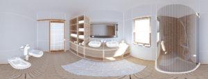 3D Planung eines Badezimmerumbaus